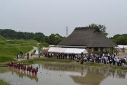 国営明石海峡公園神戸地区開園式・早乙女田植え