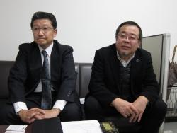 写真左が武内社長、右が吉金社長